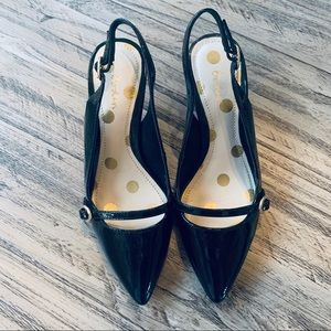 Boden Patent Leather Pointed Toe Singback Heels 36